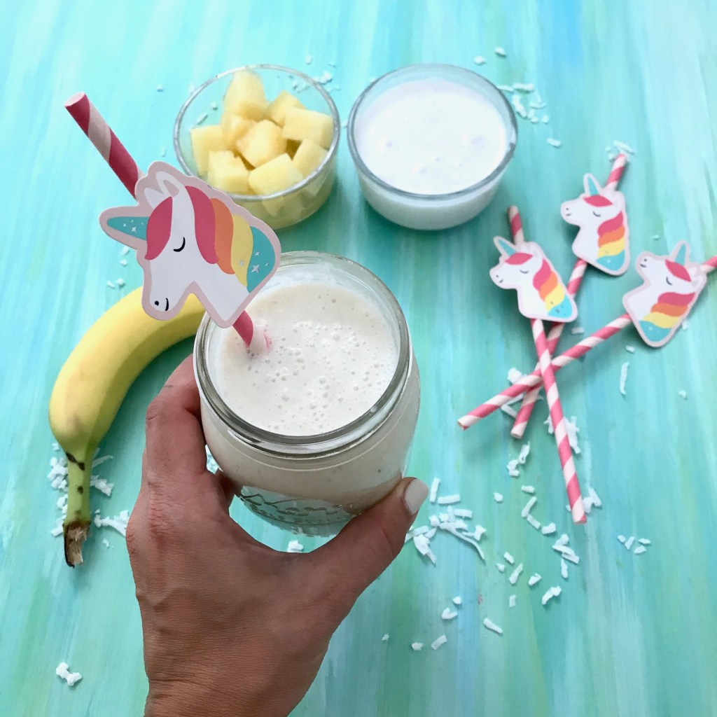Start your day with ease, convenience and great taste with this Pina Colada Smoothie made with canned fruit. You can get the comfort of a warm weather vacation from your kitchen!