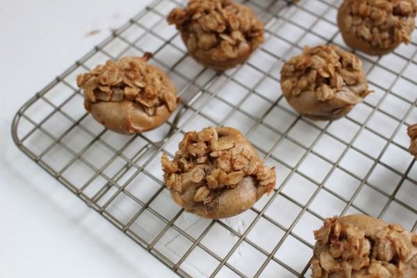 Crunchy peanut butter muffins.