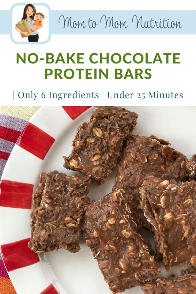No-bake chocolate protein bars are made with just six ingredients and are the perfect snack for on-the-go, busy days!