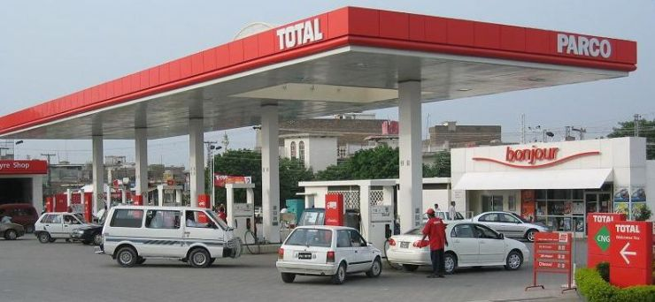 Car Rentals Filling Up at Gas Station