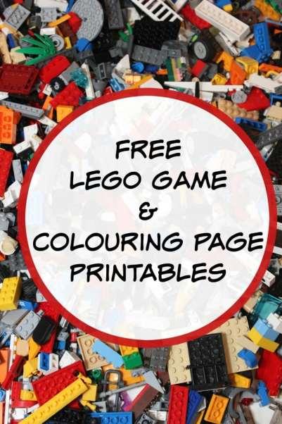 free lego game printables