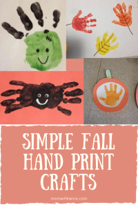 Simple Fall Hand Print Crafts For Kids Mom Wife Wine