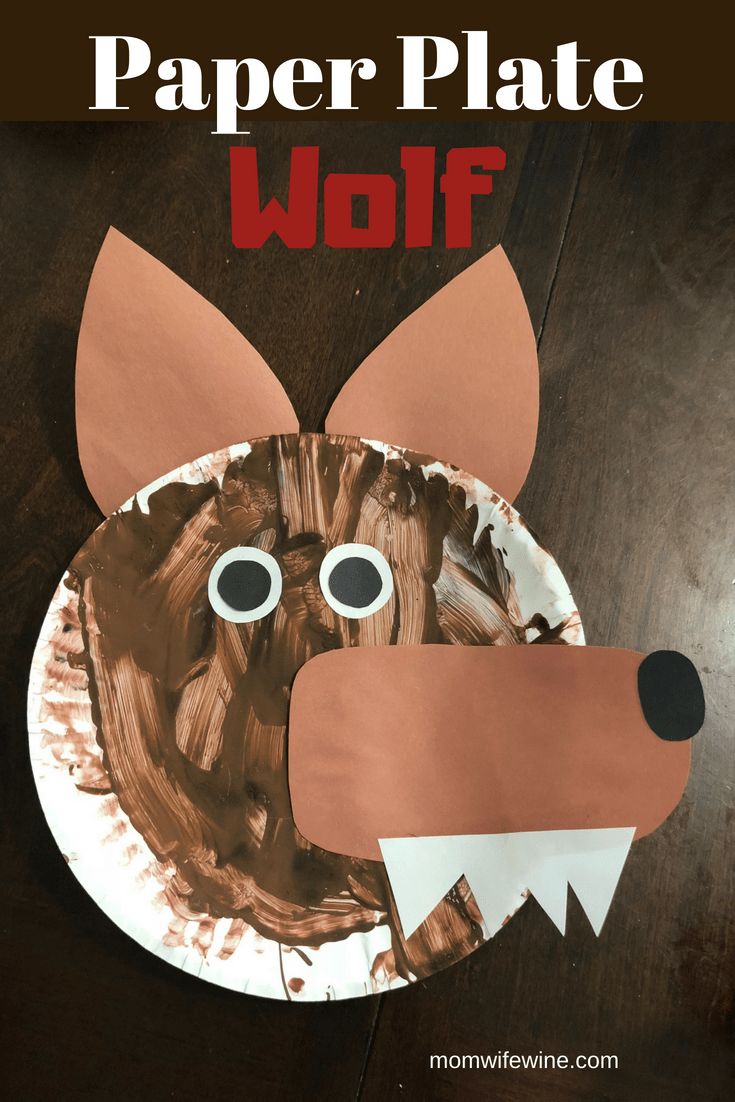 Paper Plate Wolf Craft & Paper Plate Wolf Craft - Mom Wife Wine