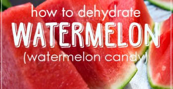 How to Dehydrate Watermelon (Watermelon Candy)