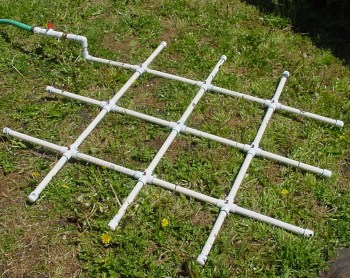 PVC Watering Grid for Square Foot Gardens