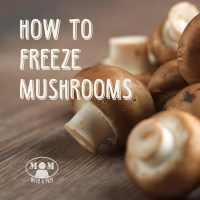 Freeze Mushrooms ? You bet you can!