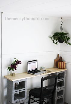 25+ DIY Cinder Block Projects for Your Home @ Momwithaprep.com | Project from The Merry Thought