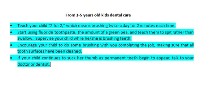 kids dental care 2019