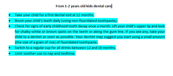 kids dental care in 2019