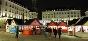 Chalets du marché de noël de Nantes