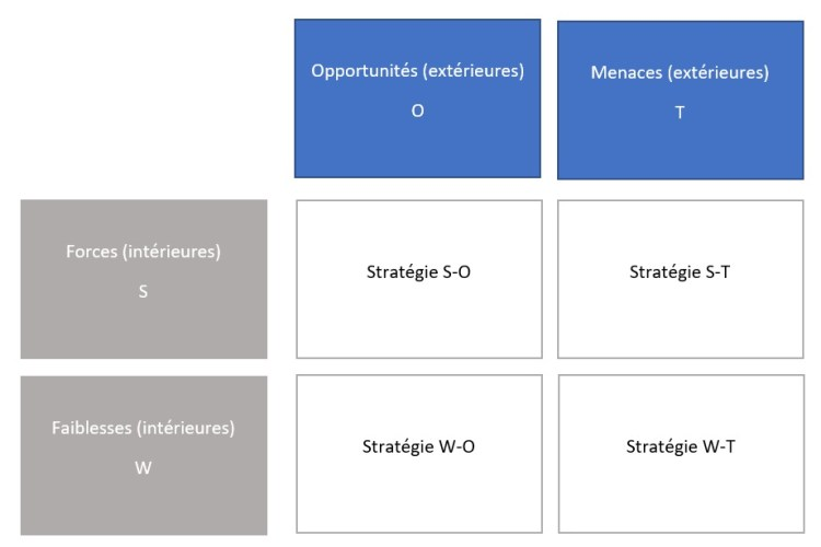 Exemple d'analyse SWOT et TOWS