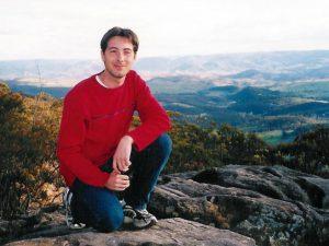 Pierre dans les Blues Mountains en Australie