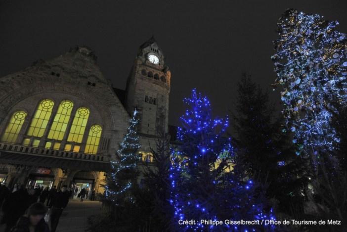 Gare de Metz à Noël
