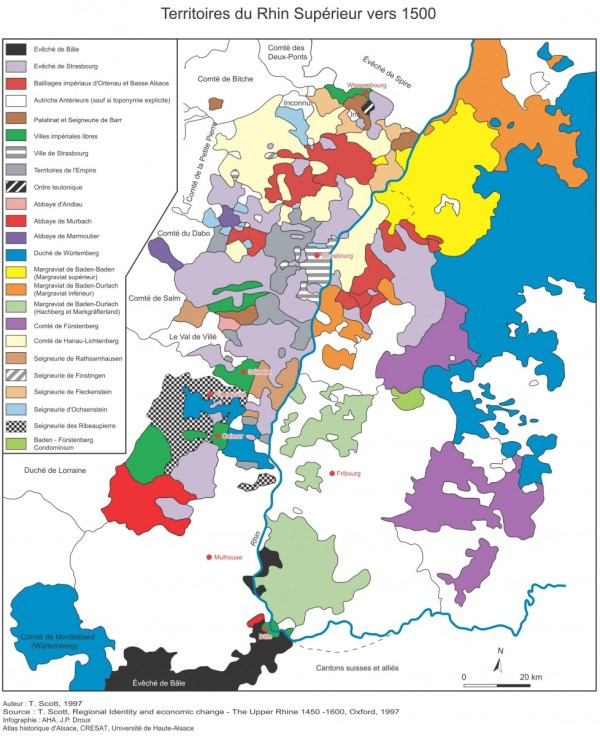 Carte Rhin Supérieur