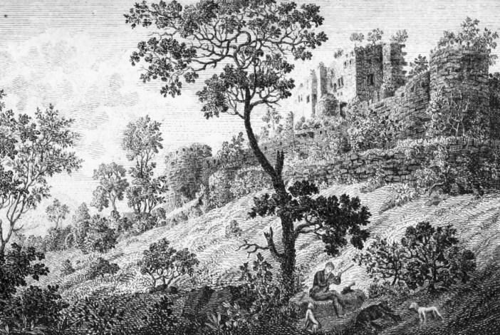 Le château du Haut Kœnigsbourg en 1821.