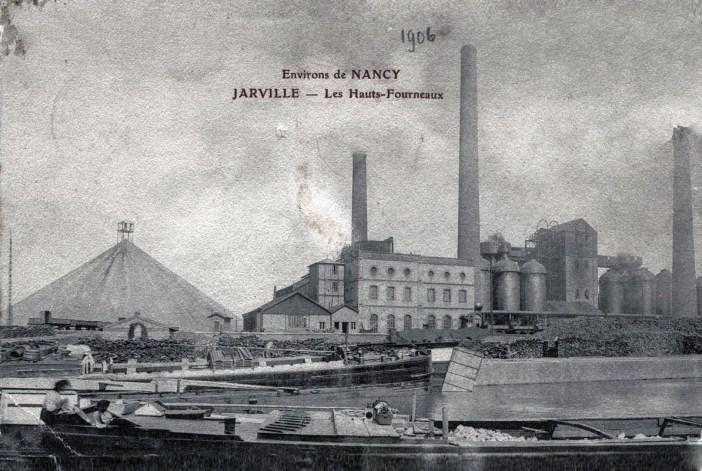 Les hauts-fourneaux de Jarville et le crassier en 1906