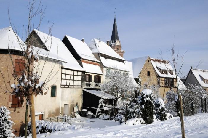 Bergheim sous la neige © Office de Tourisme Pays de Ribeauvillé-Riquewihr