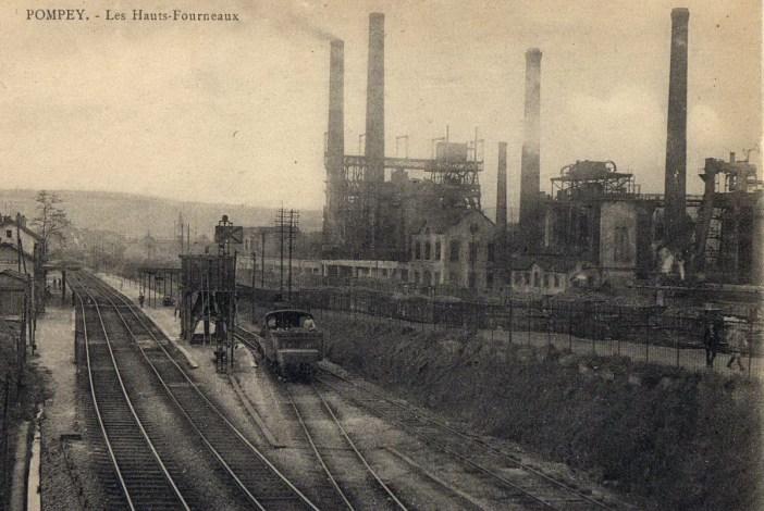 Lorraine industrielle - hauts-fourneaux de Pompey