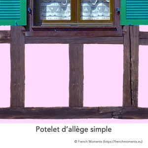 Allège d'une fenêtre. Potelet simple, maison alsacienne © French Moments