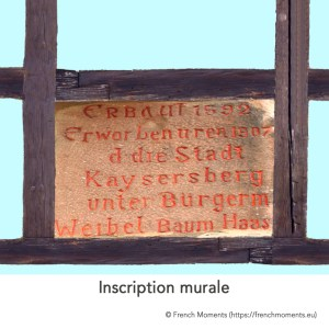 Inscription murale © French Moments