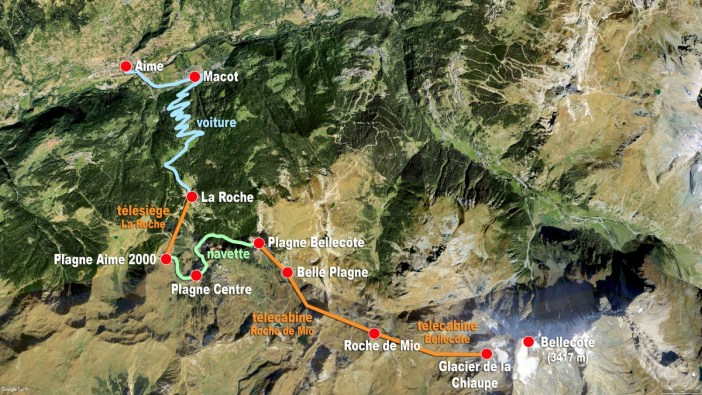 Excursion La Plagne