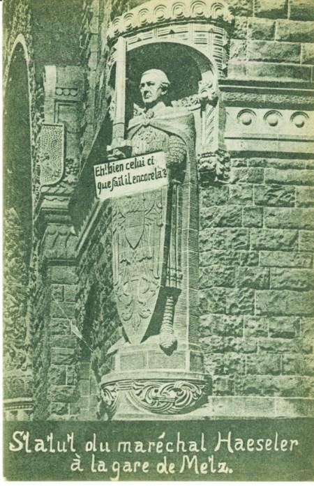 Roland sous les traits de Haeseler 1944 Archives municipales de metz