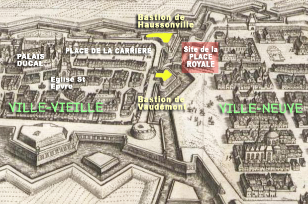 Plan de Nancy en 1645