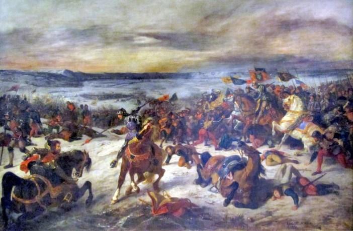 Bataille de Nancy par Delacroix (1831)