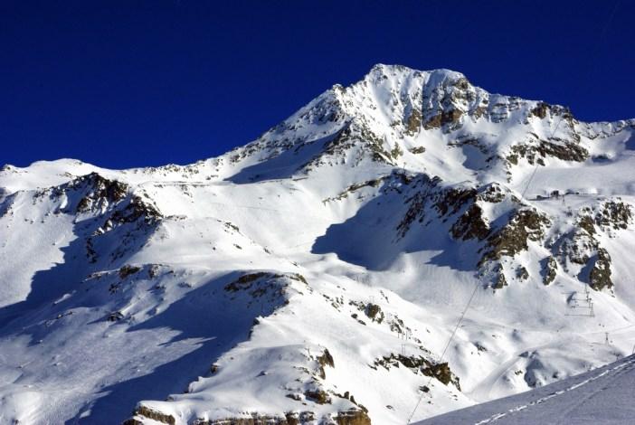 Le sommet de Bellecôte vu depuis la Roche de Mio © French Moments