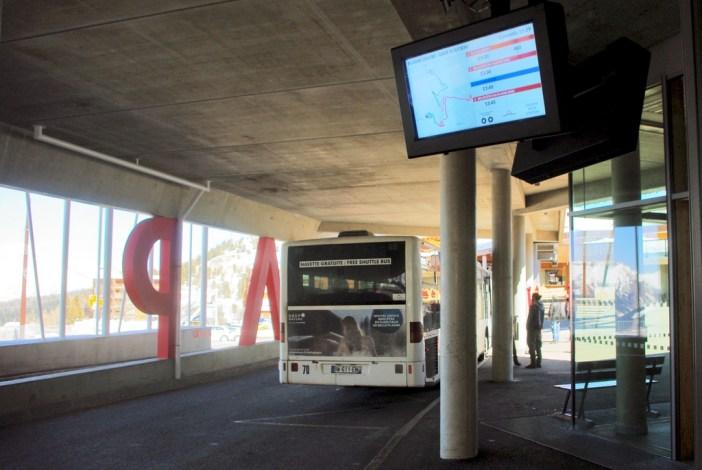 La gare routière de Plagne Centre © French Moments