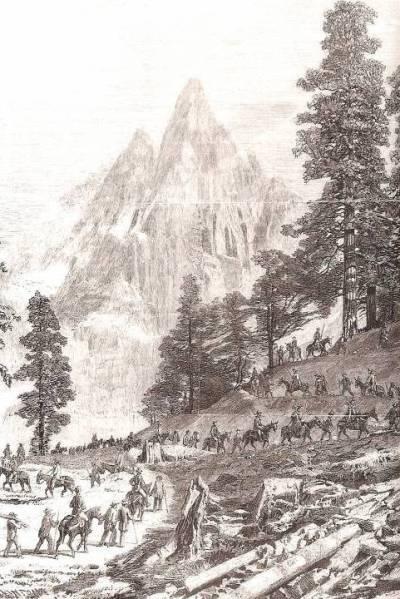 La caravane impériale en route vers la Mer de Glace en 1860