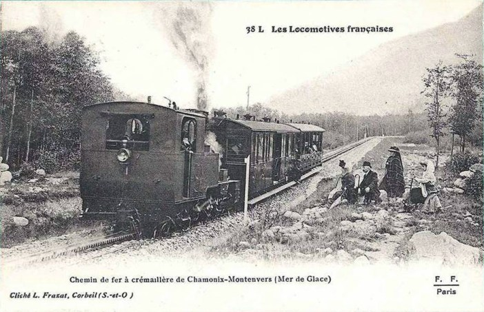 Chemin de fer du Montenvers vers 1910