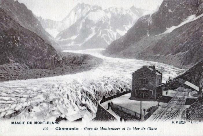 Le Montenvers et la Mer de Glace en 1910