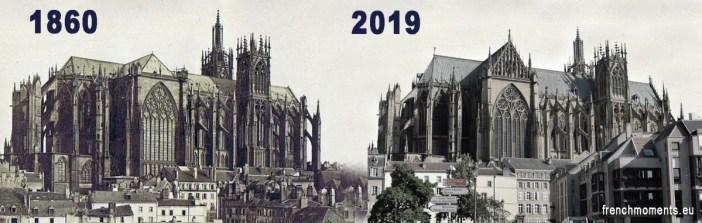 La cathédrale de Metz en 1860 et en 2019 by French Moments