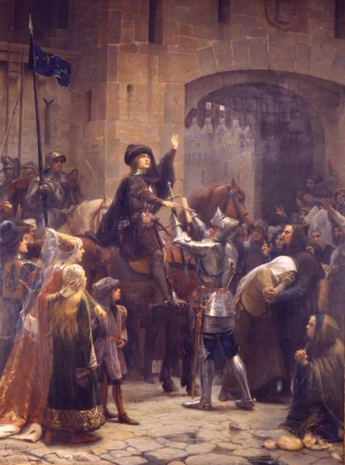 Jeanne d'Arc en Lorraine : Le Départ de Vaucouleurs. Jean-Jacques Scherrer, 1886-1887