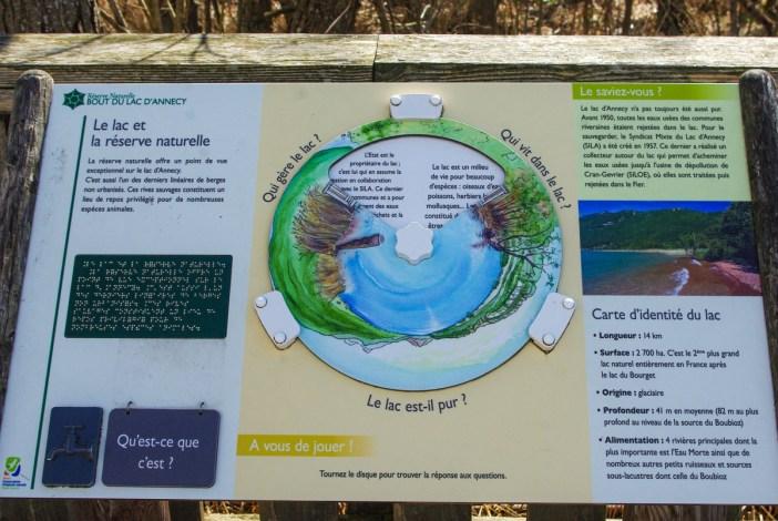 Panneaux informatifs au Bout-du-Lac © French Moments