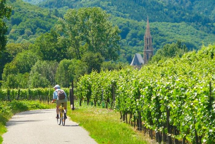 Balade vélo sur une des plus belles pistes cyclables d'Alsace près de Thann © French Moments