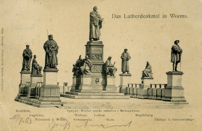 Le Lutherdenkmal, monument à Martin Luther de Worms