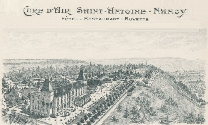Carte postale promotionnelle de la Cure d'Air à Nancy