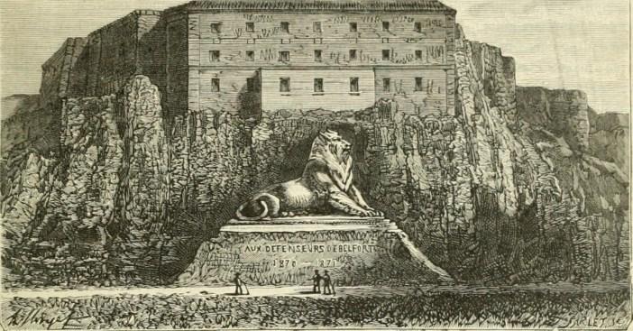 Gravure de Belfort en 1881