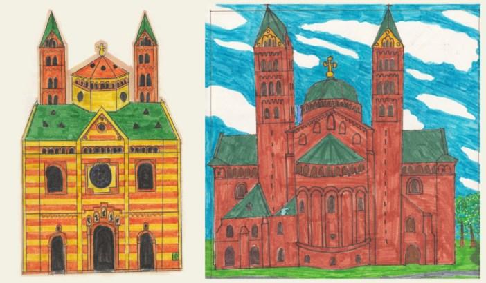 Mes dessins d'enfant de la cathédrale de Spire © Pierre Guernier
