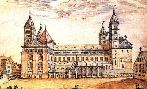 Le Kaiserdom de Spire en 1610