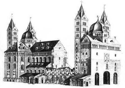 La cathédrale de Spire en 1750