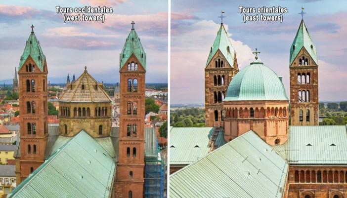 Tours de la cathédrale de Spire