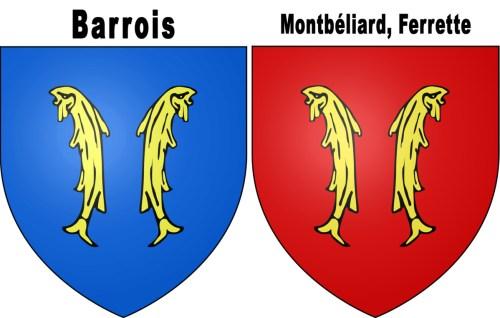 Blason aux deux poissons © I, Darkbob - licence [CC BY 2.5] from Wikimedia Commons