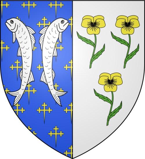 Les deux poissons - Blason de Bar-le-Duc © Spedona - licence [CC BY-SA 4.0] from Wikimedia Commons
