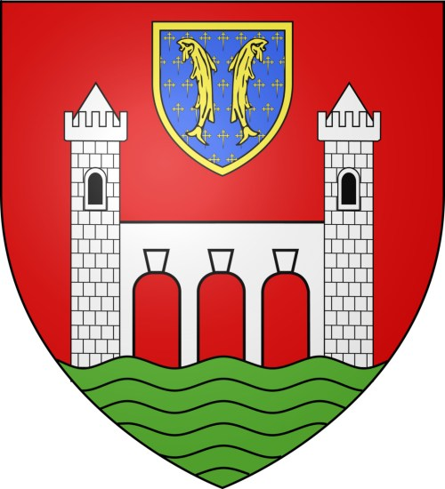 Les deux poissons - Blason de Pont-à-Mousson par Travail Personnel - licence [CC BY-SA 3.0] from Wikimedia Commons