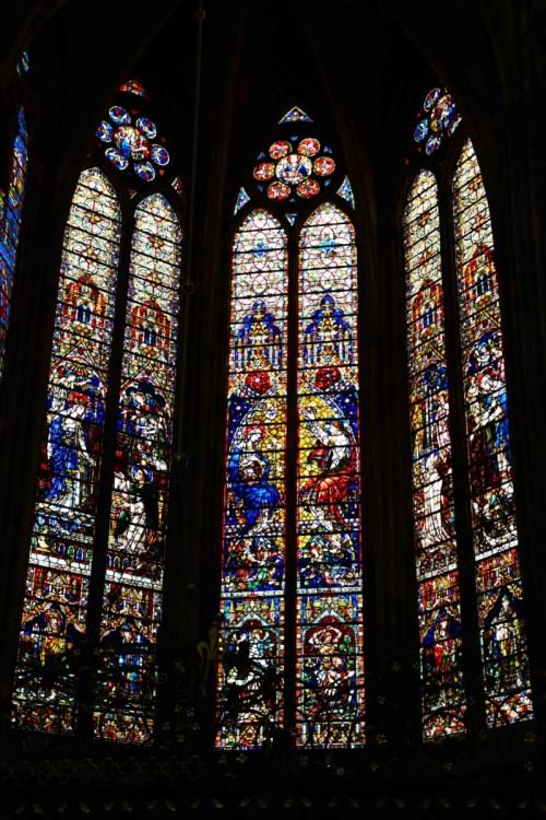 Vitraux du 19e siècle, chapelle Notre-Dame la Ronde © French Moments