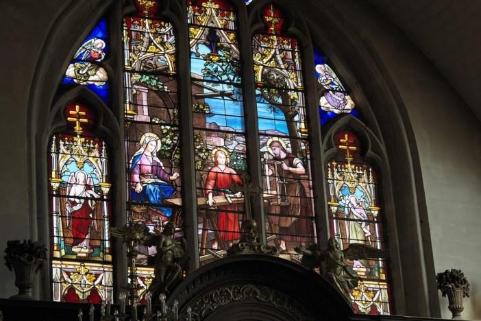 Autour de Nancy - Les vitraux de l'église Saint-Marien de Vic-sur-Seille © GFreihalter - licence [CC BY-SA 3.0] from Wikimedia Commons