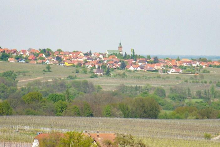 Le village d'Epfig vu de la chapelle Saint-Sébastien © French Moments